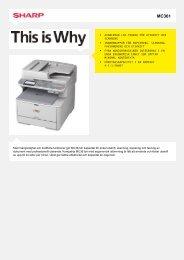 MC361-Skrivare (Svartvit) - Sharp Electronics