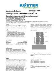 Vodoravni sistem izolacije zidov z KÖSTER Crisin® 76 - Koster
