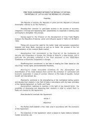 FREE TRADE AGREEMENT BETWEEN THE REPUBLIC OF ... - WITS