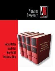 Social Media Guide for Non-Profits - Abrams Research