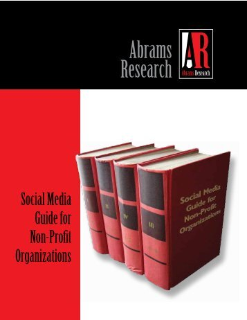 Social Media Guide for Non-Profits - Abrams Research