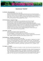 3. Bilag 3: CV for medvirkende (Medvirkende, Det Flydende Teater ...