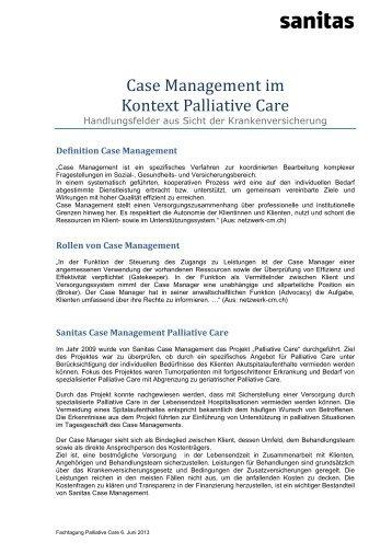 Beatrice Pfisterer über Case Management und