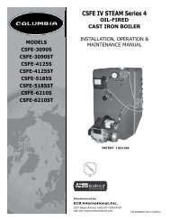 CSFE IV STEAM Series 4 - Columbia Heating