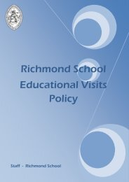 Educational Visits Policy - Richmond School