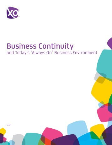 """Business Continuity & Today's """"Always-On"""" - XO Communications"""