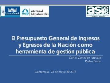El Presupuesto General de Ingresos y Egresos de la Nación como ...