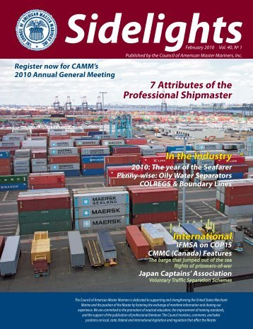 Sidelights February 2010 Vol. 40#1 - Council of American Master ...