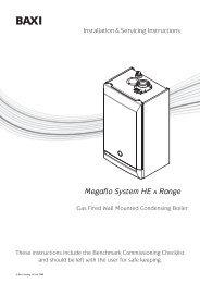 Baxi Megaflo HE System Boilers 15,18,24,28,32 ... - BHL.co.uk