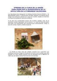 OFRENDA EN LA CUEVA DE LA ARAA - Apinews