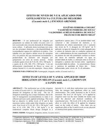 Cucumis melo - UFRB