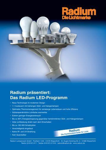 Gemütliches Licht mit Radium LED - KARO Elektrotechnik