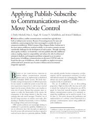 Applying Publish-Subscribe to Communications-on-the-Move Node ...
