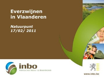 Presentatie INBO: everzwijnen in Vlaanderen - Natuurpunt