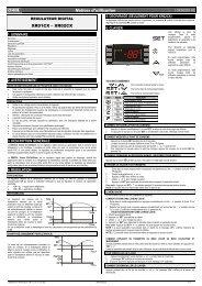 dIXEL Notices d'utilisation XR01CX – XR02CX - Emerson Climate ...