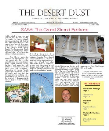 august 2012 - The Oasis Shriners