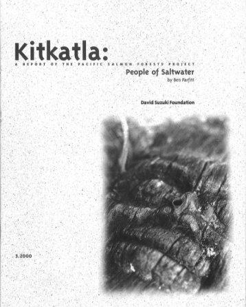 Kitkatla: People of Saltwater - David Suzuki Foundation