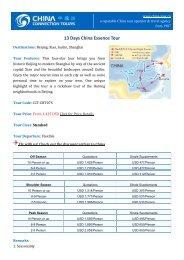 13 Days China Essence Tour - Classical China Tours