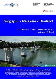 Singapur - Malaysia - Thailand - SERVRail