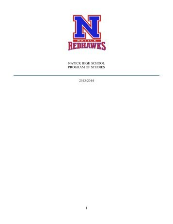 1 natick high school program of studies 2013-2014 - Natick Public ...