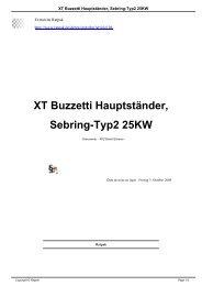 XT Buzzetti Hauptständer, Sebring-Typ2 25KW - Ratpak