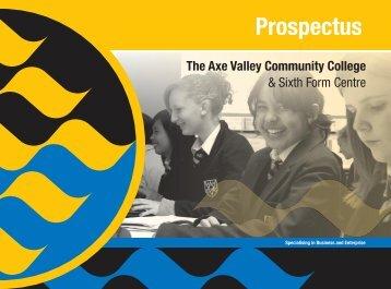 Prospectus - The Axe Valley Community College