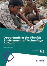 Opportunities for Finnish Environmental Technology in India - Sitra