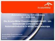 Die ArcelorMittal Eisenhüttenstadt GmbH – ein Die ... - zuliefertag.de