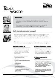 What is a Trade Waste Consent? - Waikato District Council