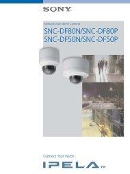 SNC-DF80N/SNC-DF80P SNC-DF50N/SNC ... - Sony Asia Pacific