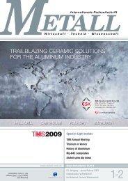TRAILBLAZING CERAMIC SOLUTIONS FOR THE ... - Metall-web.de