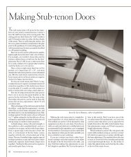 Making Stub-tenon Doors - Popular Woodworking Magazine