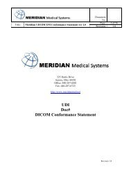 UDI Doc# DICOM Conformance Statement - DOTmed.com