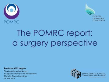 The POMRC report: a surgery perspective - Hqsc.govt.nz