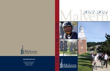 2013-2014 Curriculum Guide - Malvern Preparatory School