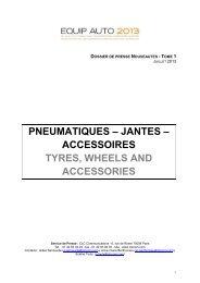 pneumatiques – jantes – accessoires tyres, wheels and accessories