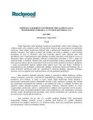 Směrnice pro dodržování předpisů zaměstnanci - Rockwood ...