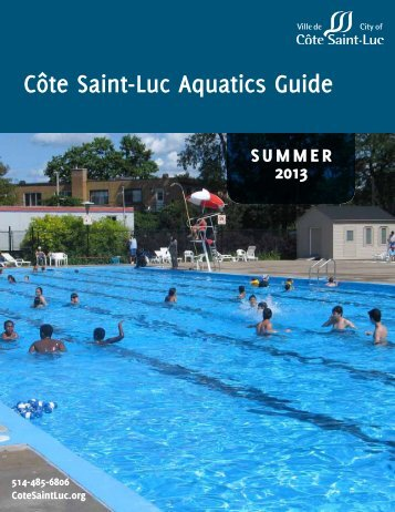 Download the summer aquatics guide. - City of Côte Saint-Luc