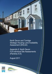 Appendix 6 (Site summaries for NDC parishes A-E) - North Devon ...