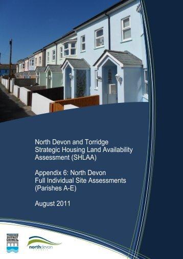 Appendix 6 (Site summaries for NDC parishes A-E) - North Devon ...