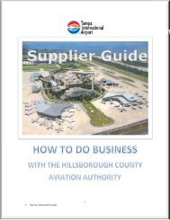 Supplier Guide - Tampa International Airport
