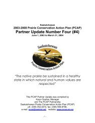 Partner Update Number Four (#4) - Prairie Conservation Action Plan