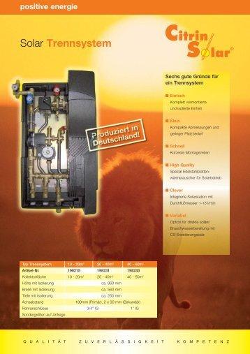 Solar Trennsystem - Citrin Solar