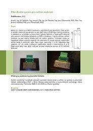 Mikrofluidní systém pro měření vodivosti