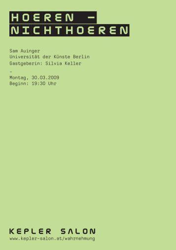 Heft_Auinger_20090330.pdf - Kepler Salon