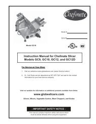 Instruction Manual for Chefmate Slicer Models GC9, GC10, GC12 ...