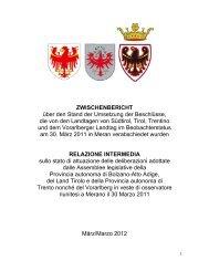 Gemeinsamer Bericht (Zwischenbericht) - Südtiroler Landtag