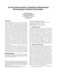 On the Communication Complexity of Randomized ... - CiteSeerX