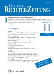 Inhaltsverzeichnis 11/2011 - Deutsche Richterzeitung