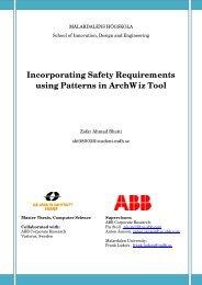 9. Safety Architectural Patterns - Research - Mälardalens högskola